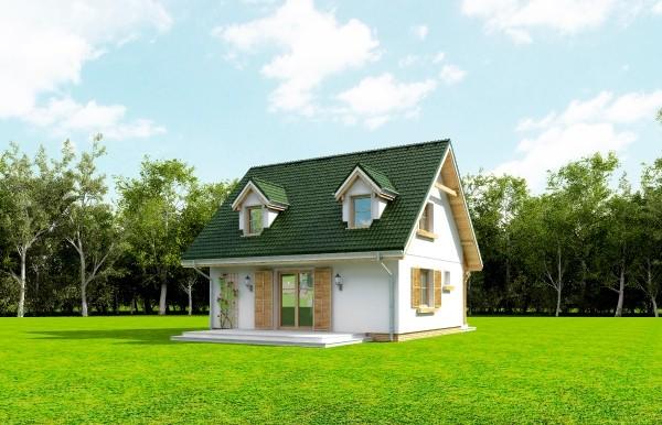 Projekt domu Poziomka - obrót 8