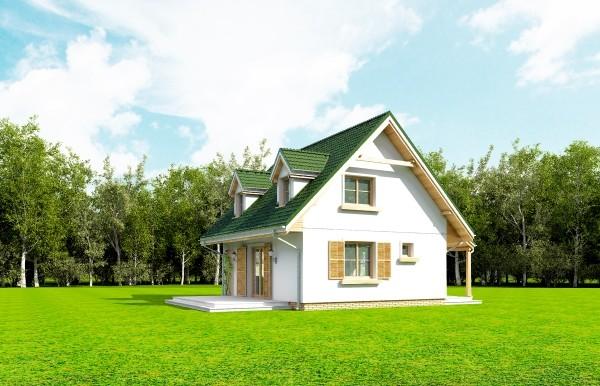 Projekt domu Poziomka - obrót 9