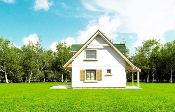 Projekt domu Poziomka - obrót 10