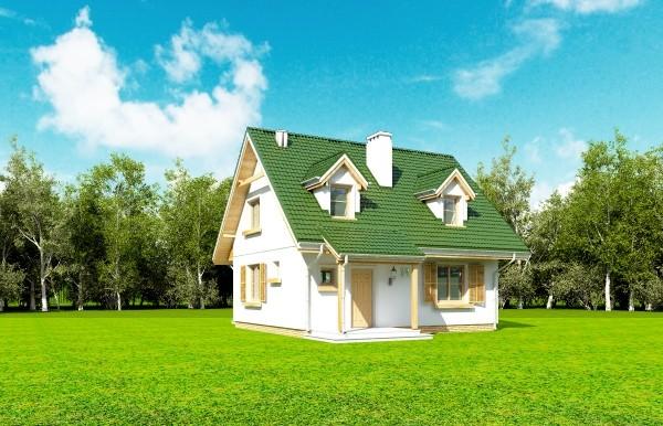 Projekt domu Poziomka - obrót 12