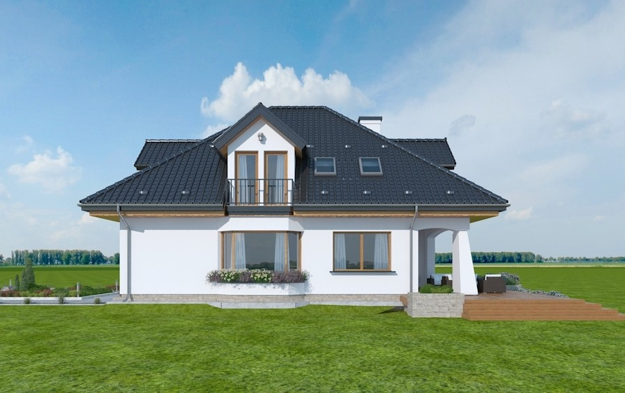 Animacja - projekt domu Agnieszka 3 B