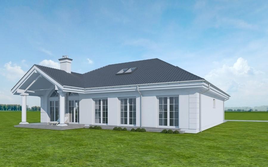 Animacja - projekt domu Dom na parkowej