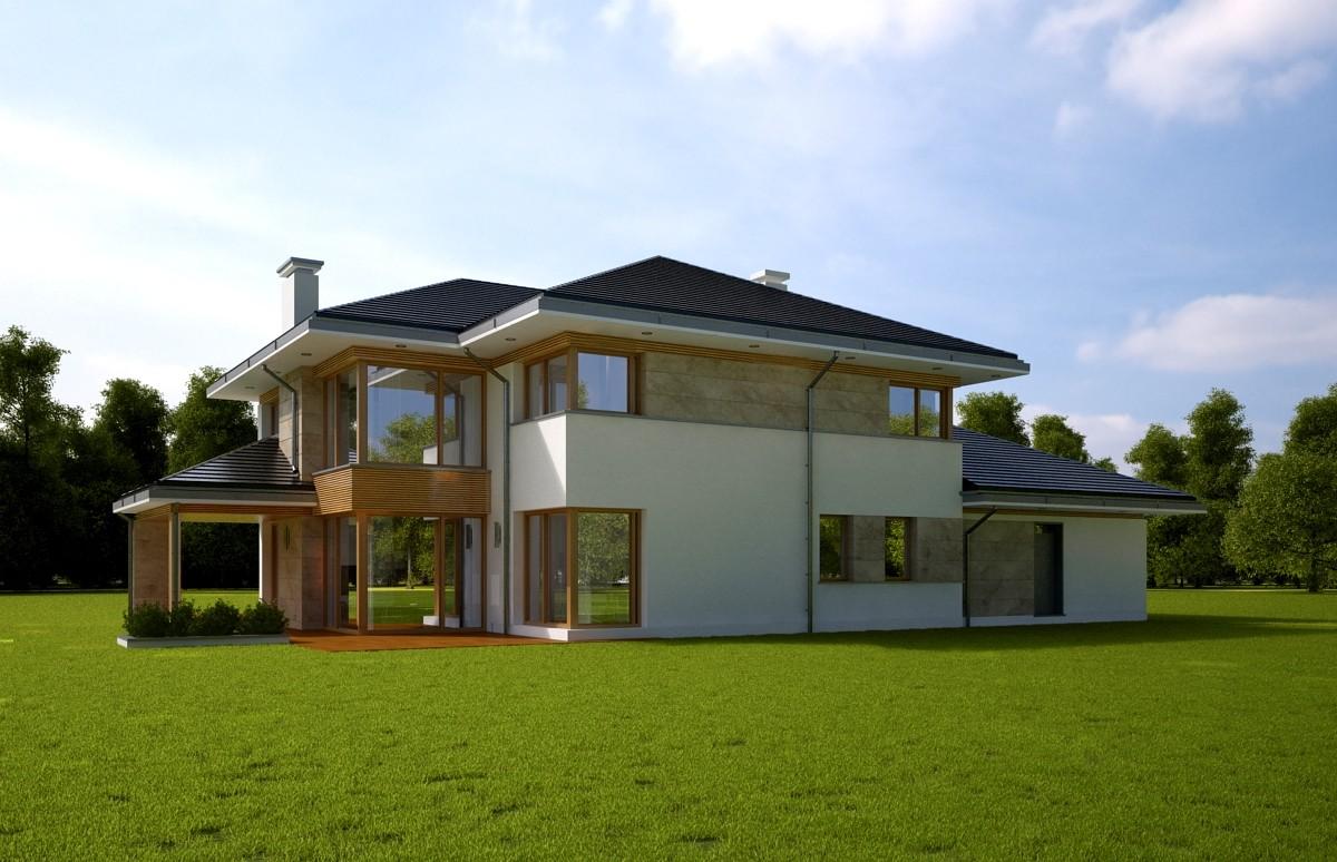 Animacja - projekt domu Dom z widokiem 4