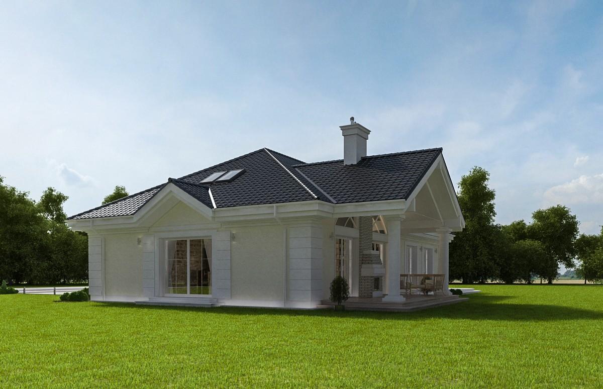 Animacja - Projekt domu Willa parkowa