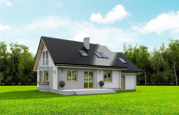 Animacja - Projekt domu Bryza 5 (NF40)