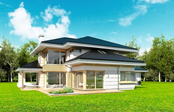 Animacja - projekt domu Dom z widokiem