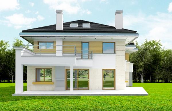 Animacja - Projekt domu Rezydencja Leśna