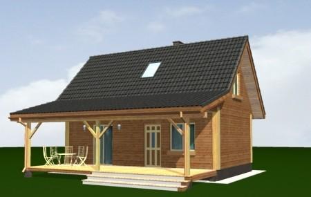 Animacja - projekt domu Przepiórka