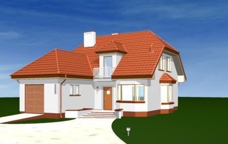 Animacja - projekt domu Przytulny