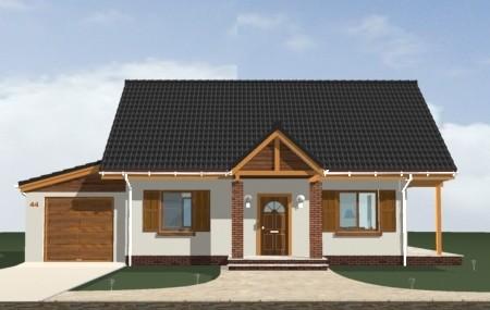 Animacja - projekt domu Radosny z garażem