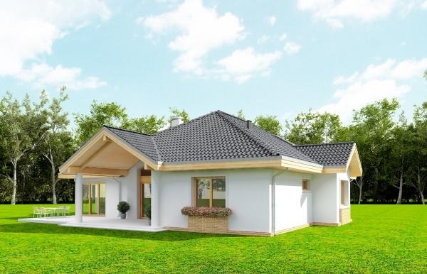 Animacja - projekt domu Rozłożysty