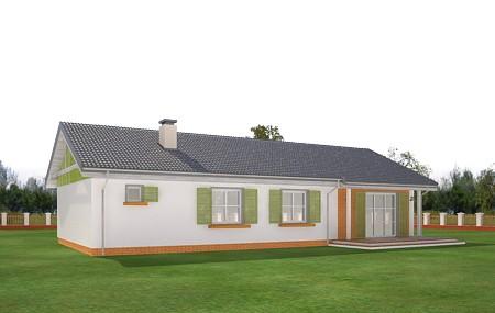 Animacja - projekt domu Słoneczny z garażem 2