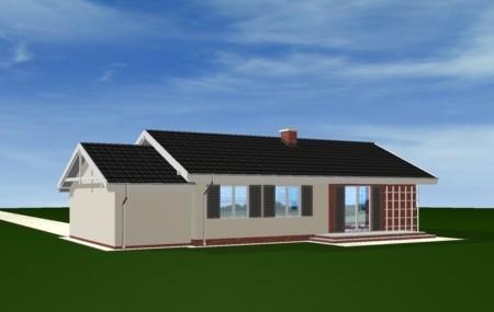 Animacja - projekt domu Słoneczny z garażem