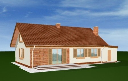 Animacja - projekt domu Słoneczny z poddaszem