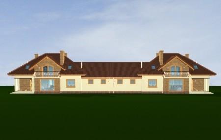 Animacja - Projekt domu Benedykt bliźniak
