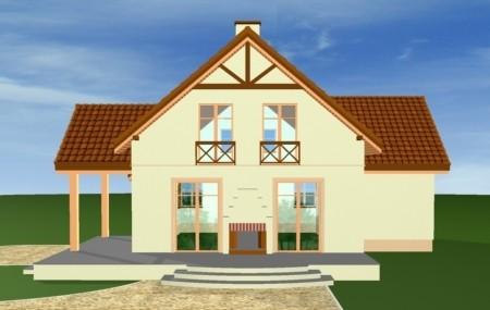 Animacja - projekt domu Wiosenny