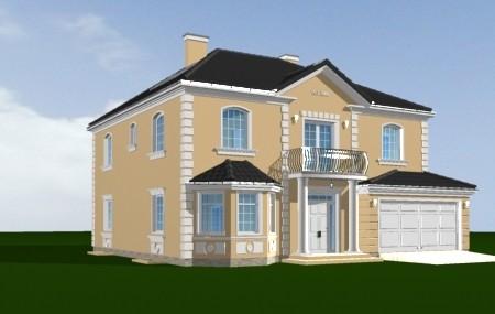 Animacja - projekt domu Stylowy