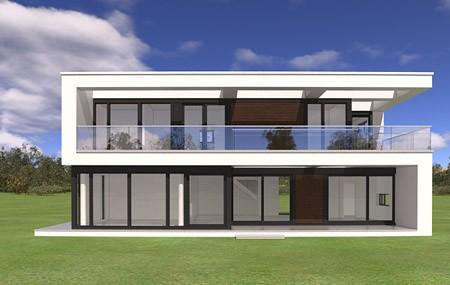 Animacja - Projekt domu Willa słoneczna