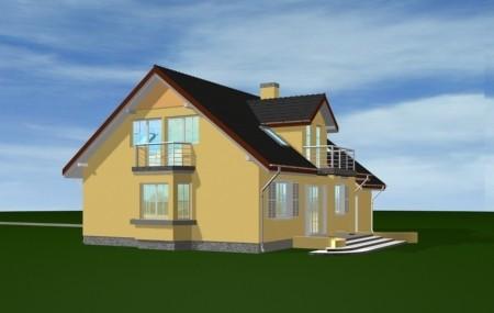 Animacja - projekt domu Zgrabny 2