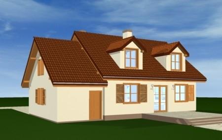 Animacja - projekt domu Zgrabny z lukarnami