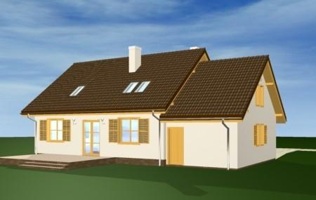 Animacja - projekt domu Zgrabny z przedsionkiem