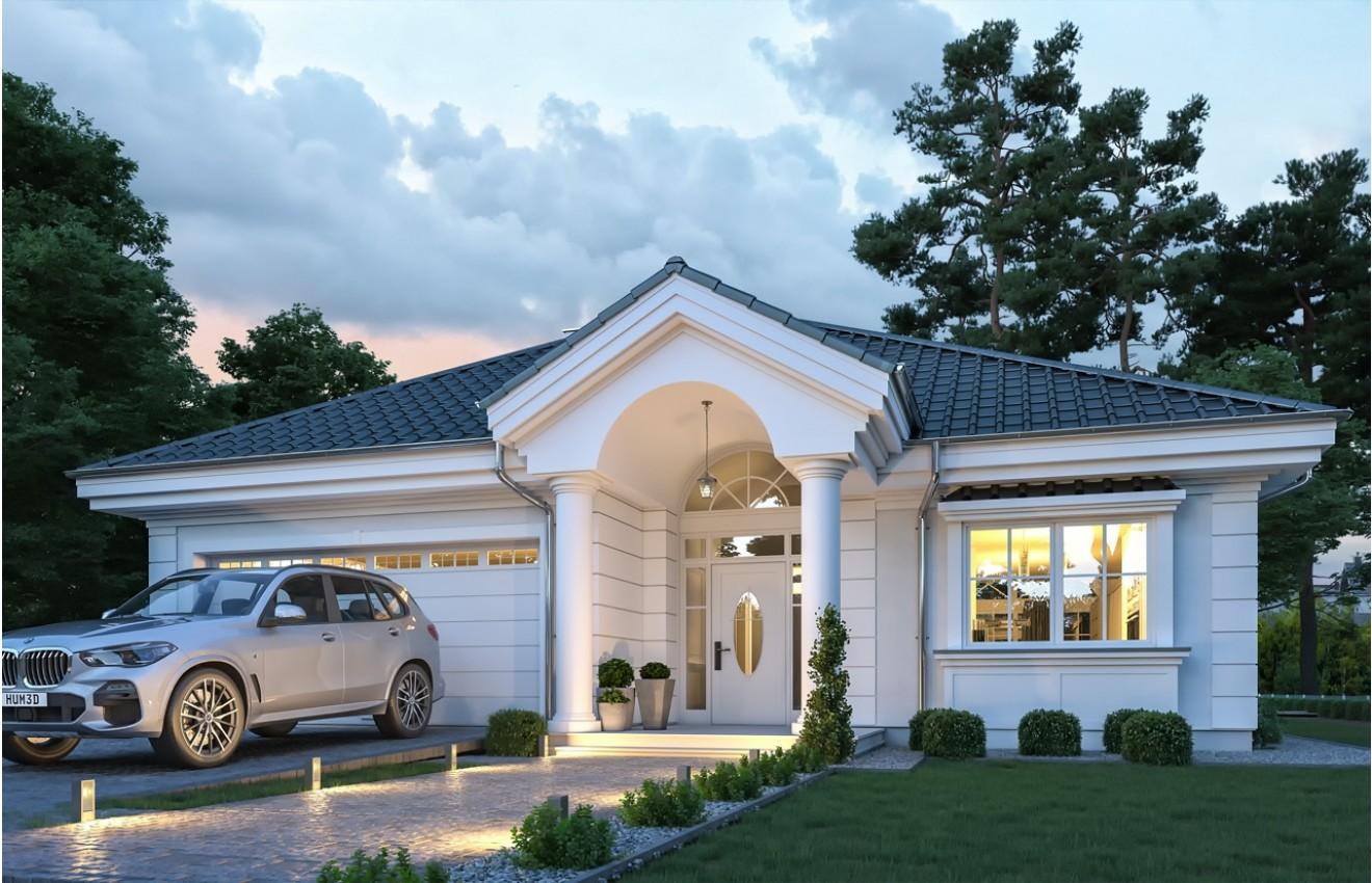 Projekt domu Dom na Parkowej 7 C - wizualizacja frontu