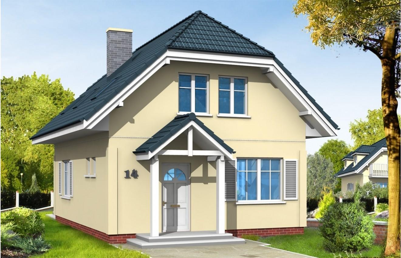 Projekt domu Adaś - wizualizacja frontowa