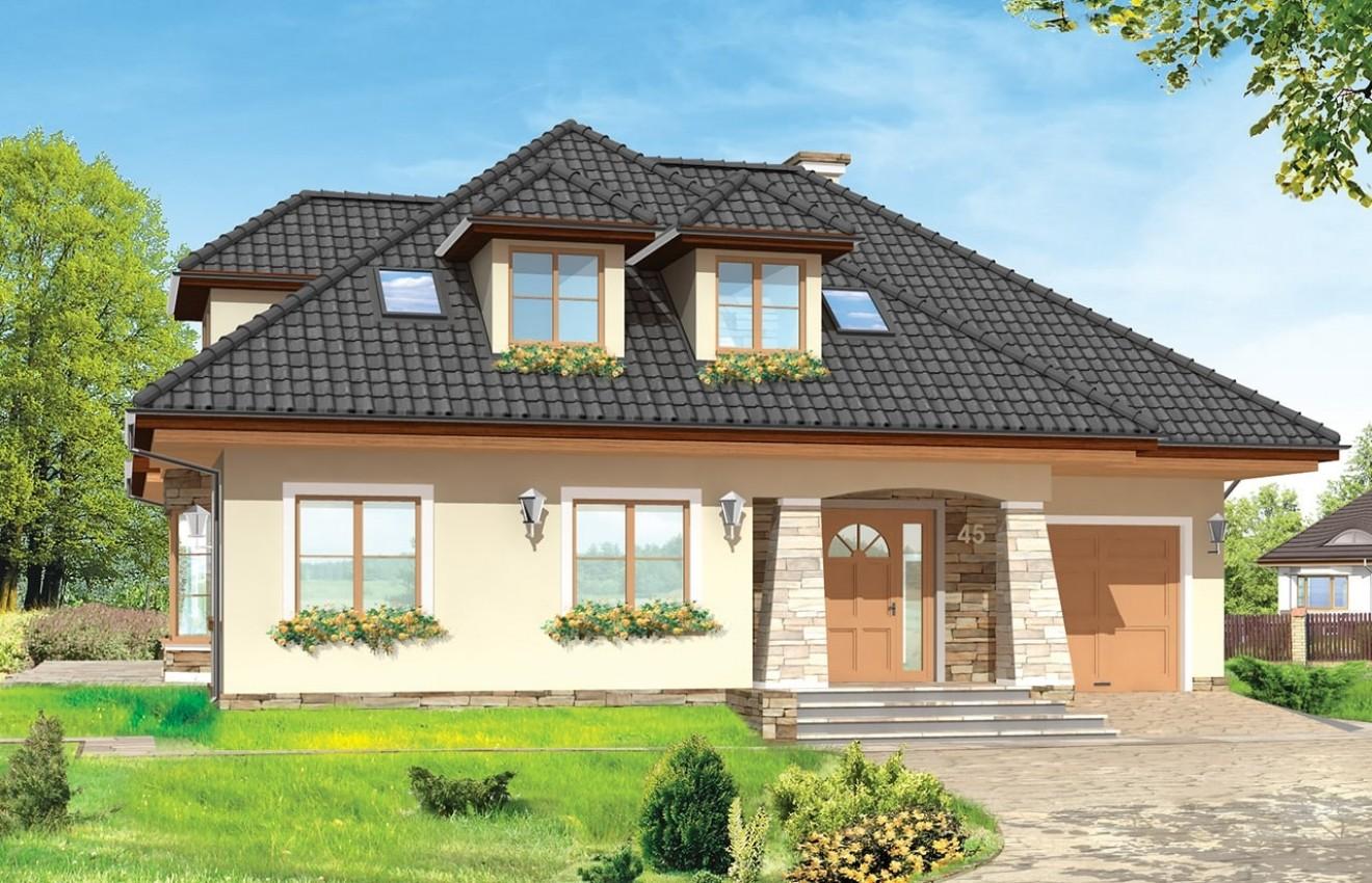 Projekt domu Agnieszka 2 - wizualizacja frontowa