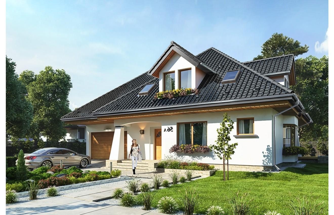 Projekt domu Agnieszka 3 B - wizualizacja frontowa