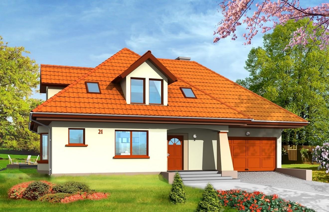 Projekt domu Agnieszka - wizualizacja frontowa