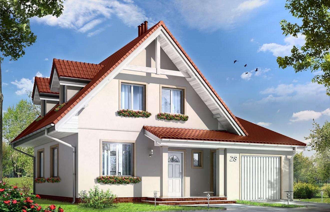 Projekt domu Alicja - wizualizacja frontowa