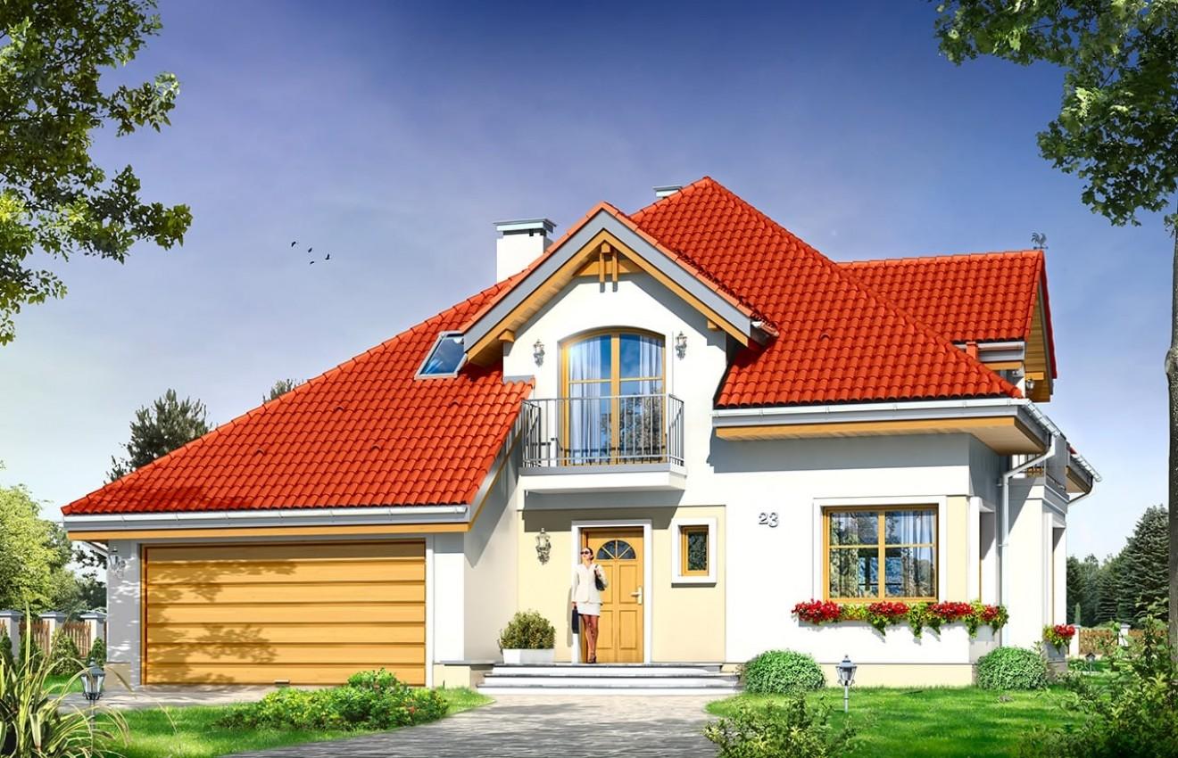 Projekt domu Amadeusz - wizualizacja frontowa