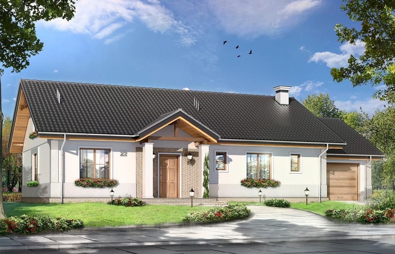 Projekt domu Anatol - wizualizacja frontowa