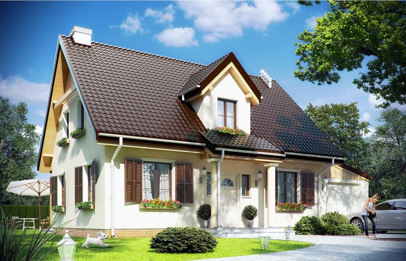 Projekt domu Bajkowy 3 - wizualizacja frontowa