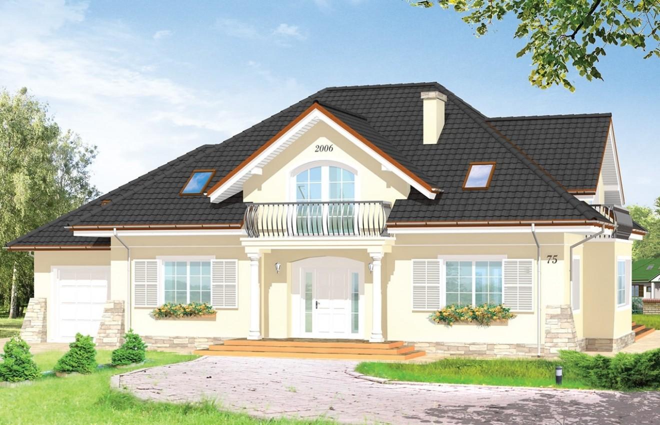 Projekt domu Benedykt 3 - wizualizacja frontu