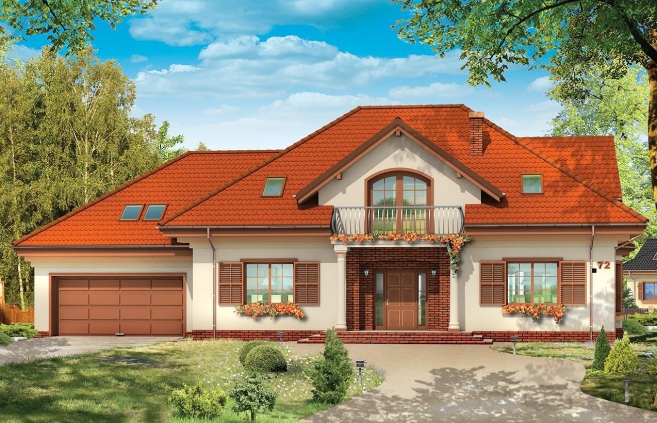 Projekt domu Benedykt 5 - wizualizacja frontu