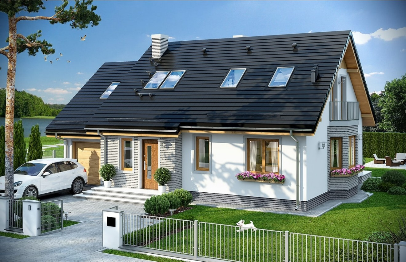 Projekt domu Bryza 5 (NF40) - wizualizacja frontowa