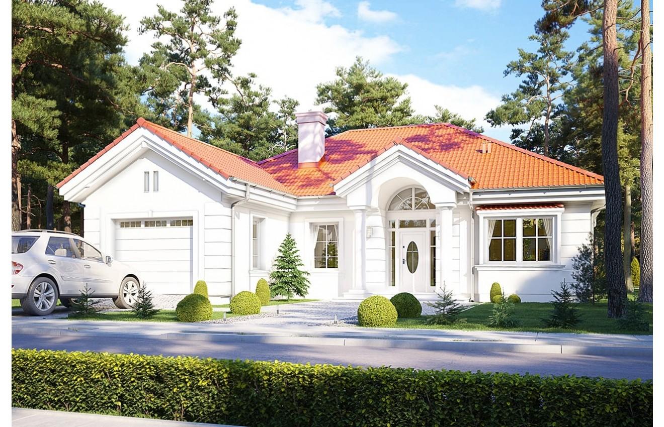 Projekt domu Dom na parkowej 2 - wizualizacja frontowa