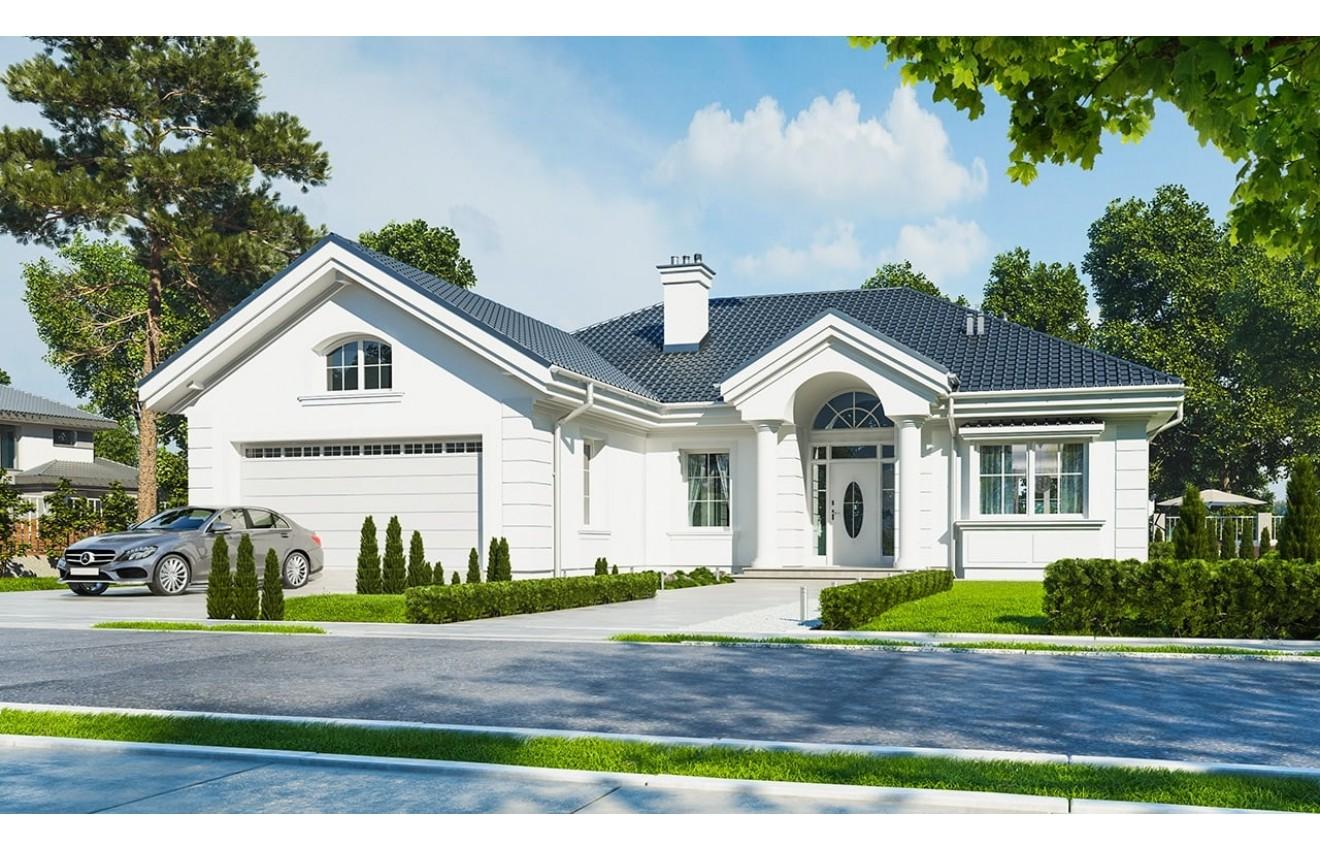 Projekt domu Dom na Parkowej - wizualizacja frontowa
