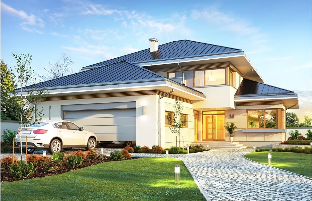 Projekt domu Dom z widokiem 3 F - wizualizacja frontu