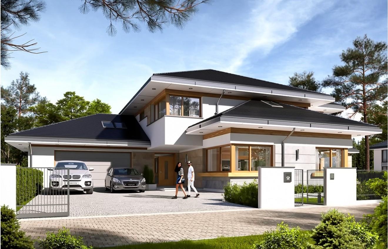 Projekt domu Dom z widokiem 4 - wizualizacja frontu
