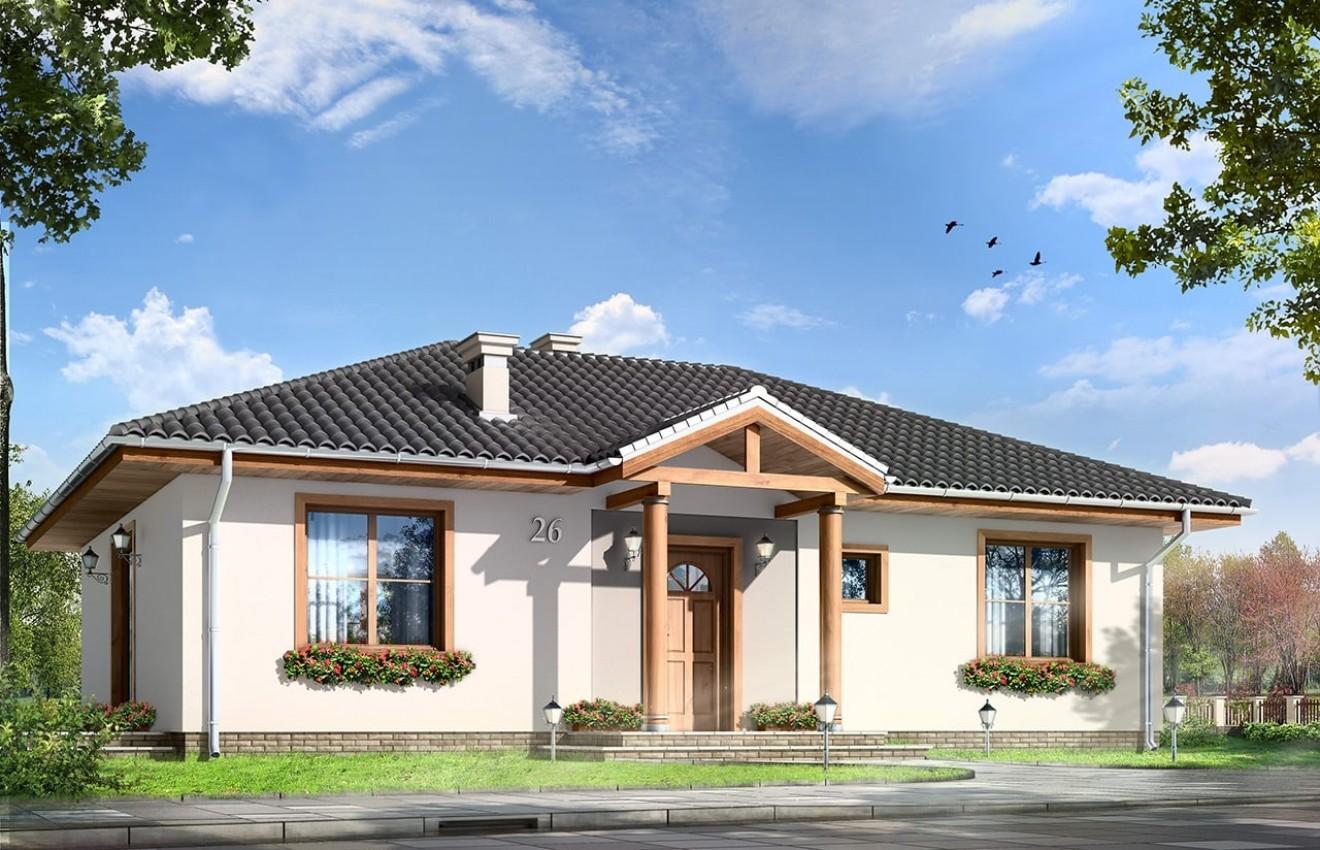 Projekt domu Kropka - wizualizacja frontowa