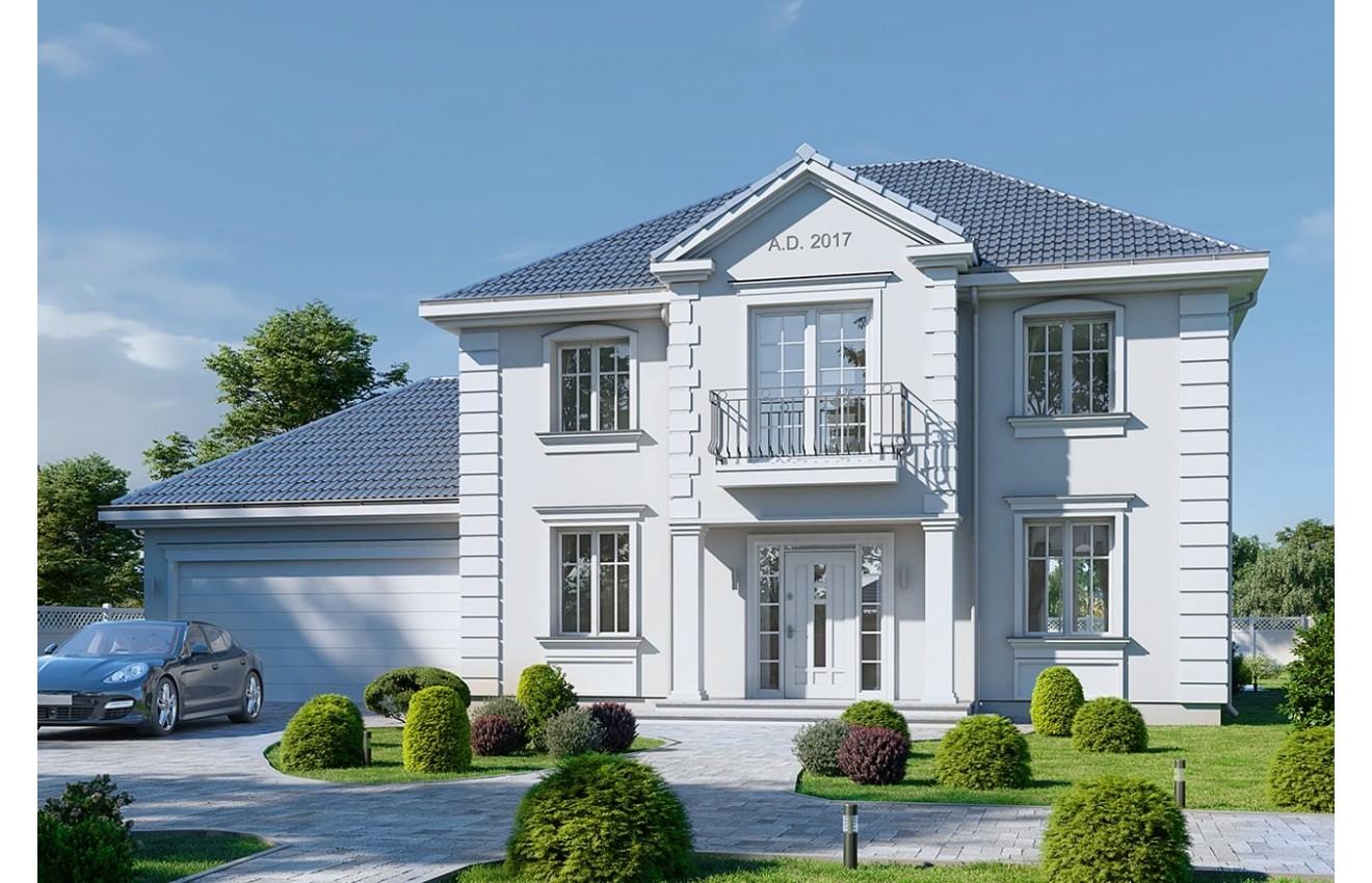 Projekt domu Magnat 4 - wizualizacja frontowa