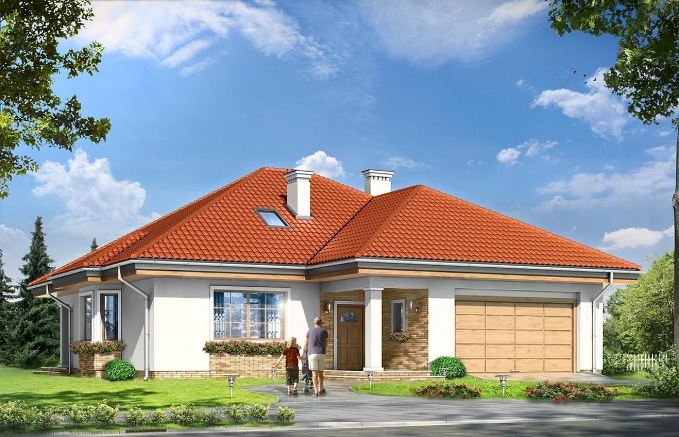 Projekt domu Natalia 3 - wizualizacja frontowa
