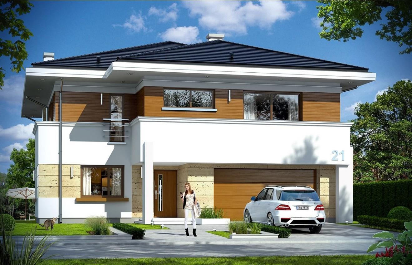 Projekt domu Oceanic - wizualizacja frontowa