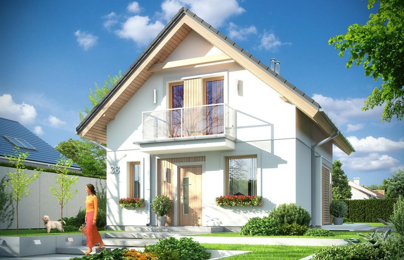 Projekt domu Oleńka - wizualizacja frontowa