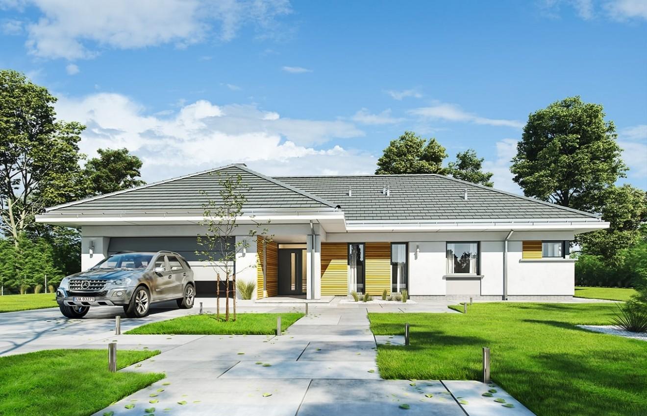 Projekt domu Parterowy 2 - wizualizacja frontowa