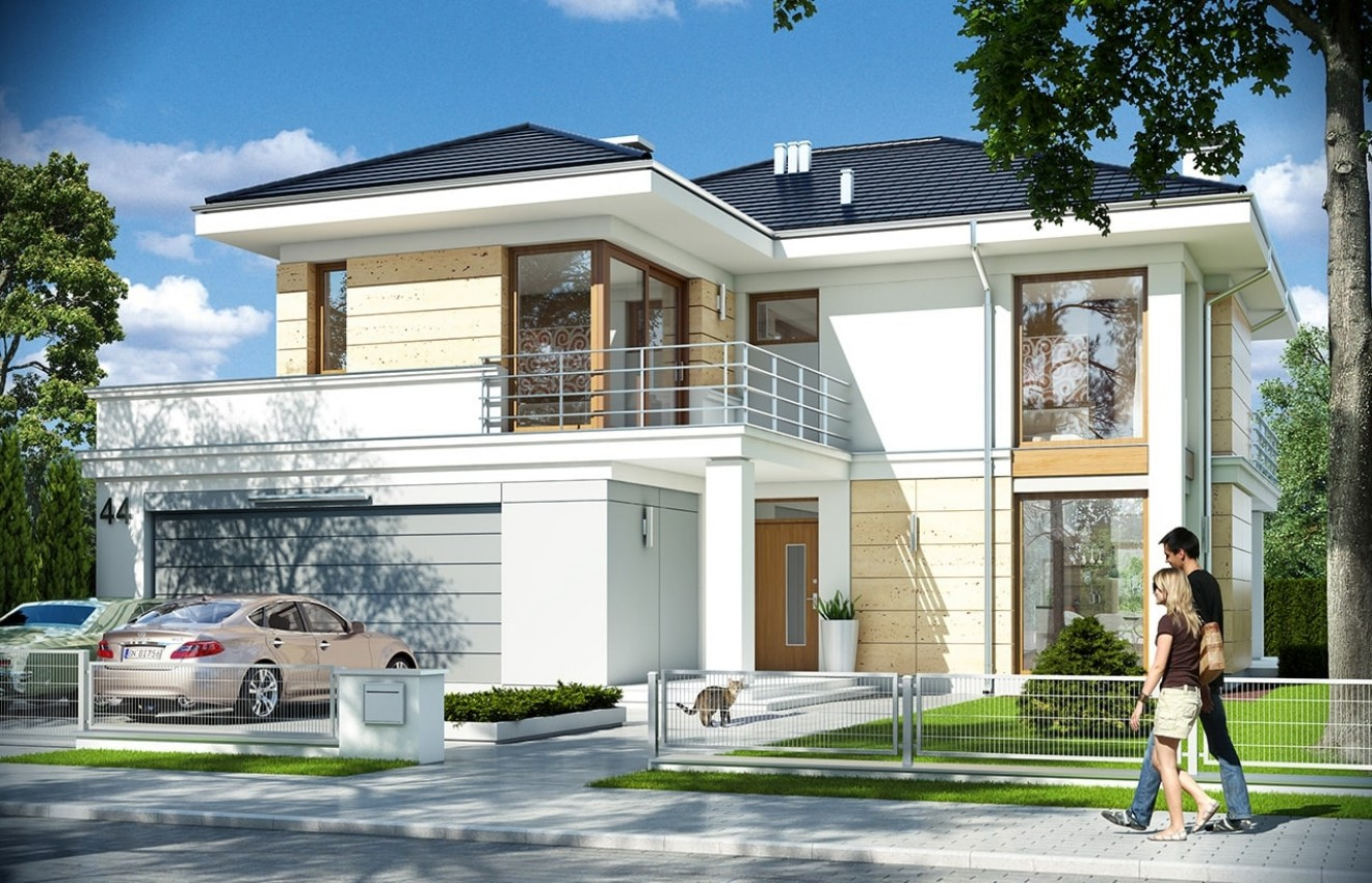 Projekt domu Riwiera 4 - wizualizacja frontowa