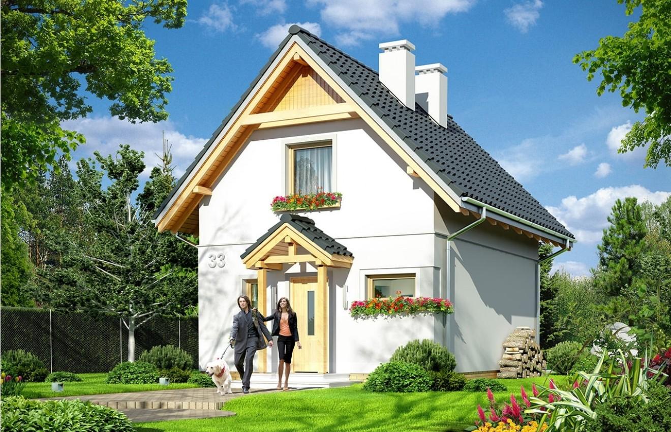 Projekt domu Smyk 2 - wizualizacja frontowa
