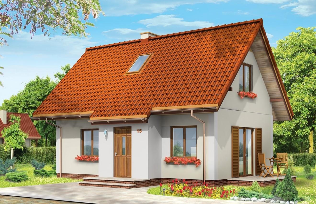 Projekt domu Sosenka 3 - wizualizacja frontowa